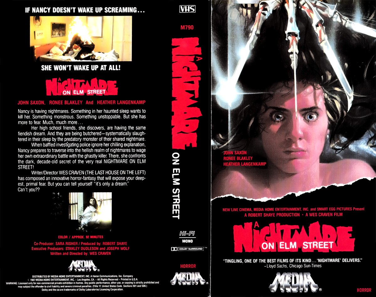 A Nightmare on Elm Street VHS