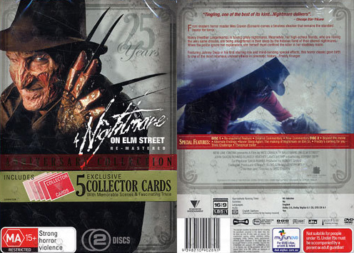 A Nightmare on Elm Street 25th Anniversary DVD (Australia)