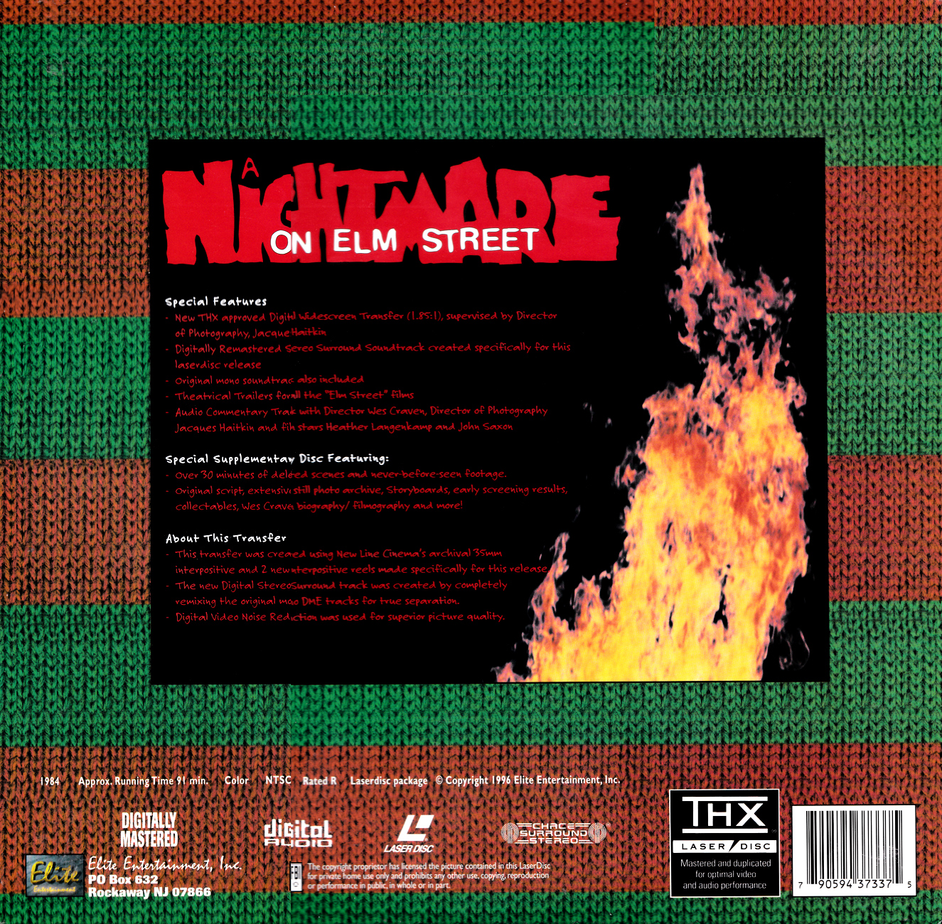A Nightmare on Elm Street Special Collector's Edition Laserdisc
