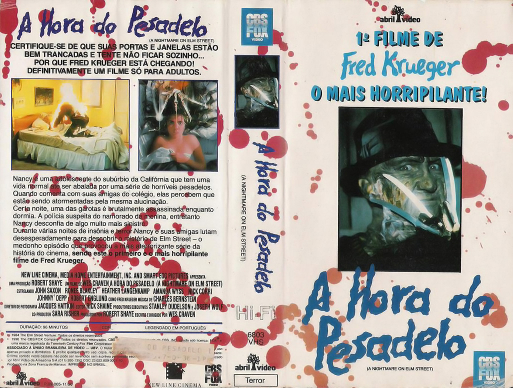 A Nightmare on Elm Street VHS (Brazil)