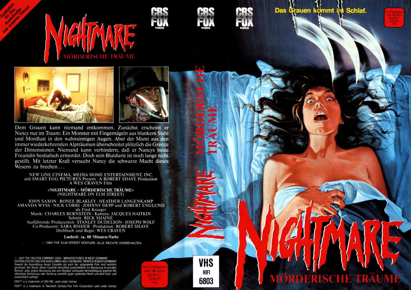 A Nightmare on Elm Street VHS (Germany)