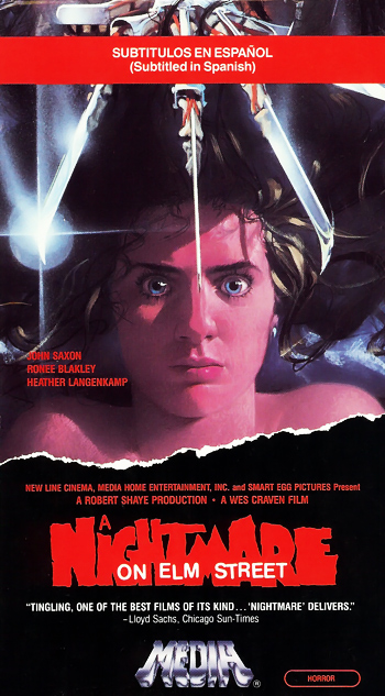 A Nightmare on Elm Street VHS (Subtitled in Spanish)