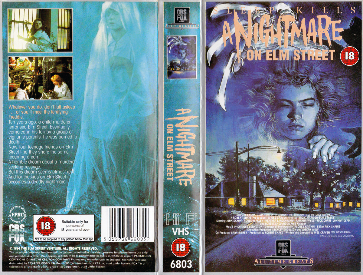 A Nightmare on Elm Street VHS (UK)