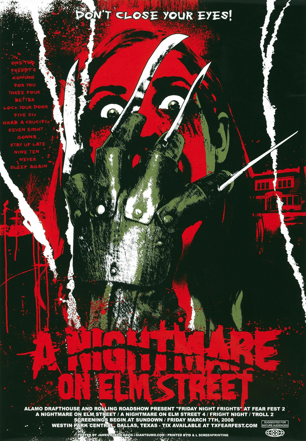 A Nightmare on Elm Street Movie Poster by James Rheem Davis