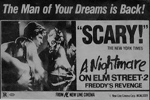 A Nightmare on Elm Street 2: Freddy's Revenge Newspaper Ad