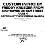 Custom Intro by Freddy Krueger from A Nightmare on Elm Street Part 4