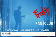 Freddy Fan Club Membership Card