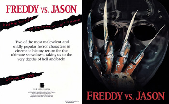 Freddy vs. Jason Original 1997 Promotional Flyer