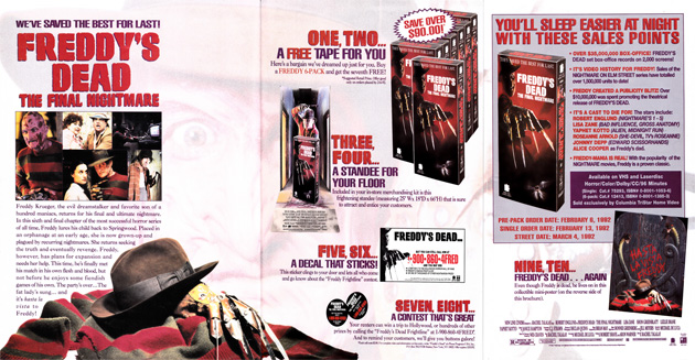 Freddy's Dead: The Final Nightmare Retail Catalog