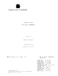 Freddy's Dead: The Final Nightmare Script