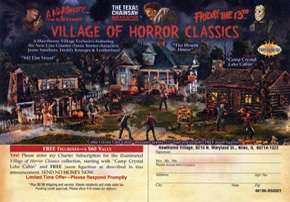 Village of Horror Classics Order Card