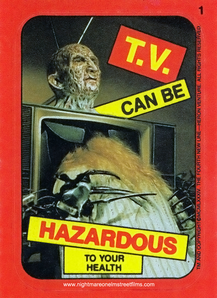 """T.V. Can Be Hazardous…"" Sticker Card"