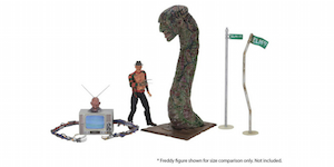 "NECA's 'Dream Warriors' Accessory Pack Includes ""Freddy TV"" and Massive ""Freddy Snake""!"