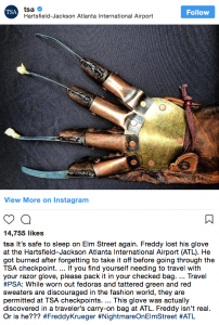 Freddy Krueger Just Met His Match: the TSA